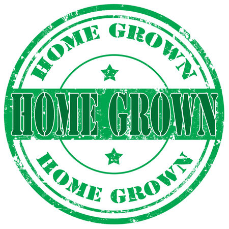 home grown: Grunge rubber stamp with text Home Grown,vector illustration Illustration