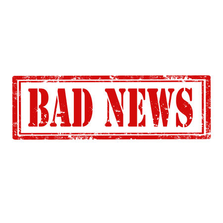 bad news: Grunge rubber stamp with text Bad News,vector illustration