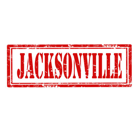 jacksonville: Grunge rubber stamp with word Jacksonville,vector illustration Illustration
