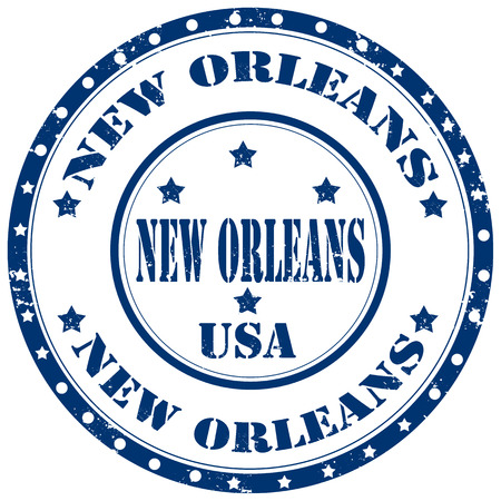 new orleans: Grunge rubber stamp with text New Orleans,vector illustration