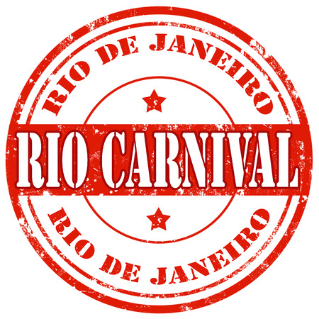 Grunge rubber stamp with text Rio Carnival,vector illustration Vector