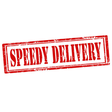 speedy: Grunge rubber stamp with text Speedy Delivery,vector illustration