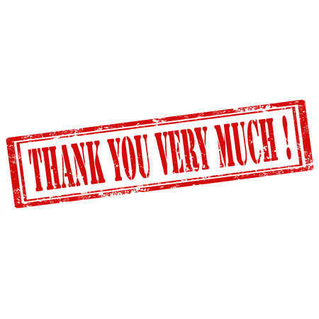 thank you very much: Grunge rubber stamp with text Thank You Very Much,vector illustration