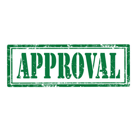 approbation: Grunge rubber stamp with word Approval,vector illustration Illustration