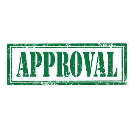 approbation: Grunge timbro di gomma con la parola di approvazione, illustrazione vettoriale