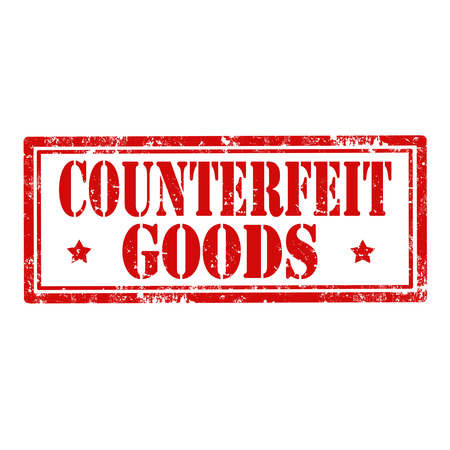 counterfeit: Grunge rubber stamp with text Counterfeit Goods,vector illustration Illustration
