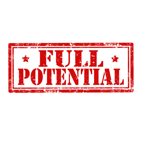 potential: Grunge rubber stamp with text Full Potential,vector illustration