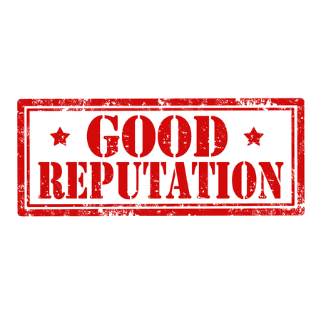 renown: Grunge rubber stamp with text Good Reputation,vector illustration Illustration