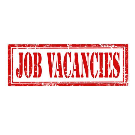 vacancies: Grunge rubber stamp with text Job Vacancies,vector illustration