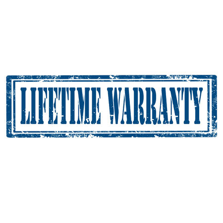 lifetime: Grunge rubber stamp with text Lifetime Warranty,vector illustration