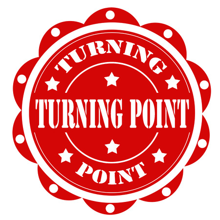 turning point: Label with text Turning Point,vector illustration