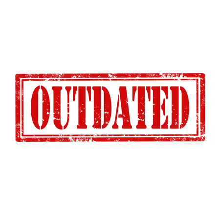 the outdated: Grunge rubber stamp with word Outdated,vector illustration Illustration