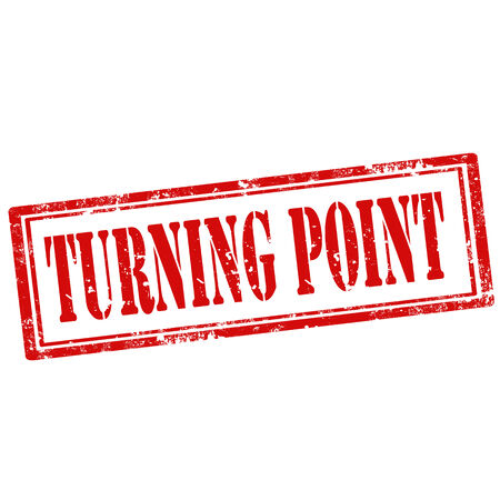 tornitura: Grunge timbro di gomma con il testo Turning Point, illustrazione vettoriale