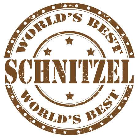 schnitzel: Grunge rubber stamp with word Schnitzel,vector illustration