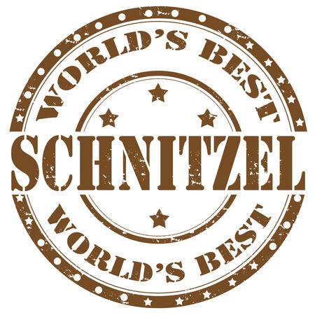Grunge rubber stamp with word Schnitzel,vector illustration