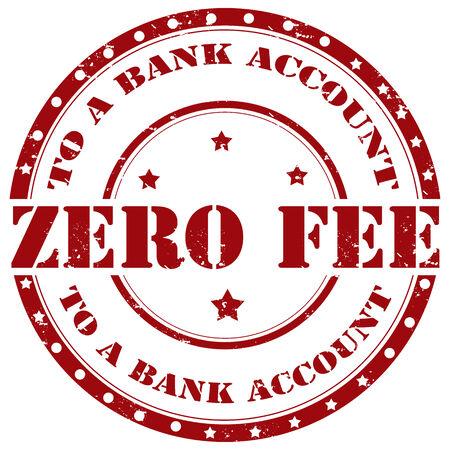 honorarios: Grunge sello de goma con el texto Zero Fee, ilustraci�n vectorial Vectores