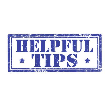 tippek: Grunge, gumi, bélyeg, Szöveg, Hasznos tippek, vektoros illusztráció