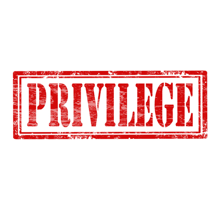 privilege: Grunge rubber stamp with word Privilege,vector illustration