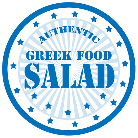 Label with word Salad,vector illustration