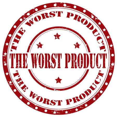 worst: Grunge rubber stamp with text The Worst Product,vector illustration Illustration