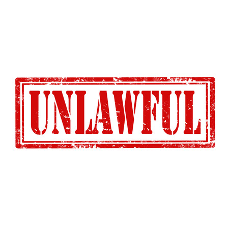 unlawful: Grunge rubber stamp with word Unlawful,vector illustration