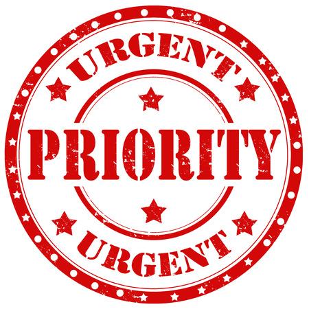 urgent priority grunge rubber stamp Vettoriali