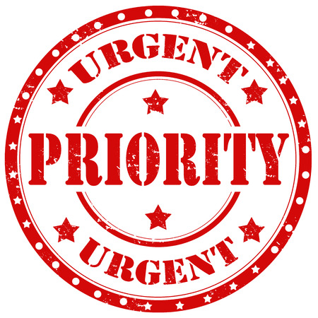 received: urgent priority grunge rubber stamp Illustration