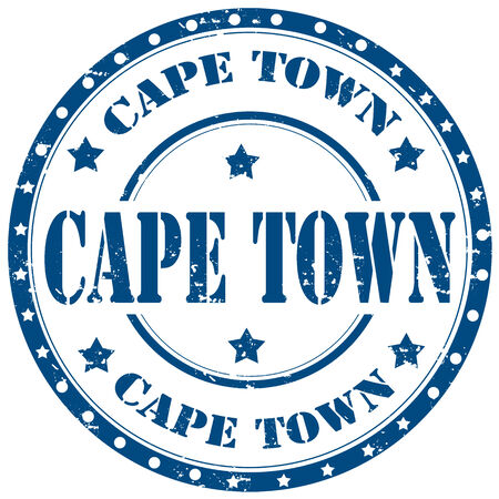 cape town: Grunge rubber stamp with text Cape Town,vector illustration