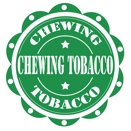 chewing: Label with text Chewing Tobacco,vector illustration Illustration