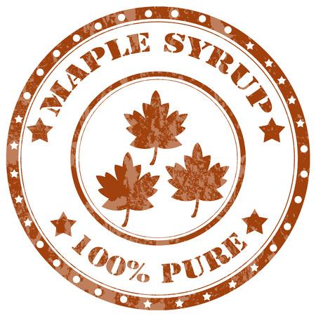 maple syrup: Grunge sello de goma con el texto de jarabe de arce, ilustraci�n vectorial