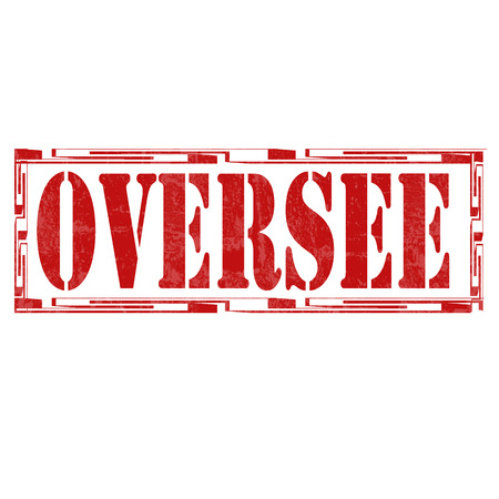 oversee: Grunge rubber stamp with text Oversee,vector illustration
