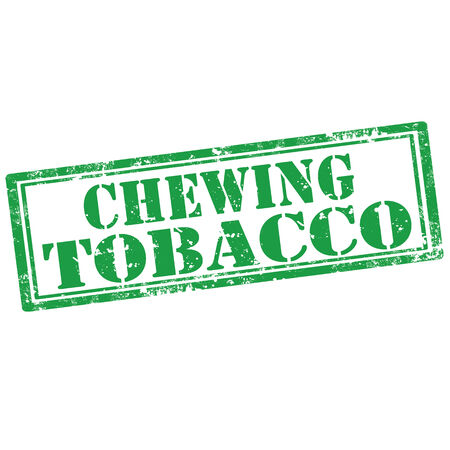 chewing: Grunge rubber stamp with text Chewing Tobacco,vector illustration