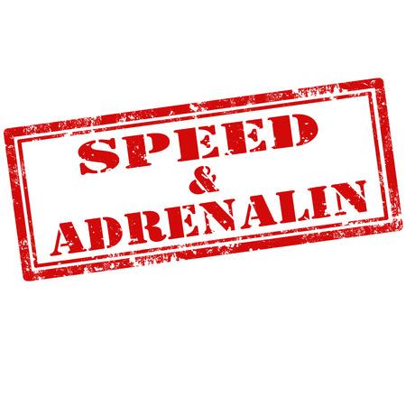 adrenalina: Grunge sello de goma con el texto velocidad Adrenalin, ilustraci�n vectorial