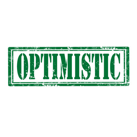 optimistic: Grunge rubber stamp with word Optimistic,vector illustration