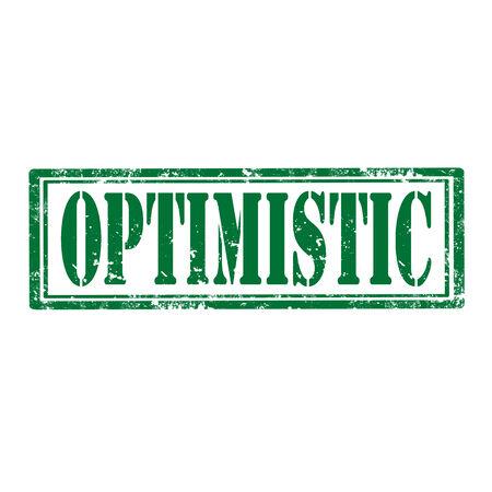 hopeful: Grunge rubber stamp with word Optimistic,vector illustration