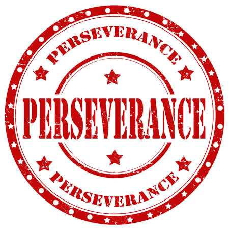 perseverance: Grunge rubber stamp with word Perseverance,vector illustration