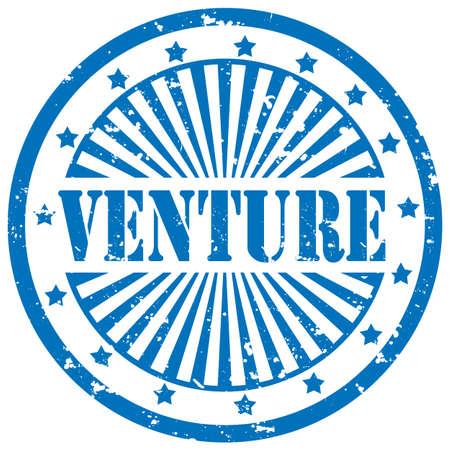 venture: Grunge rubber stamp with word Venture,vector illustration