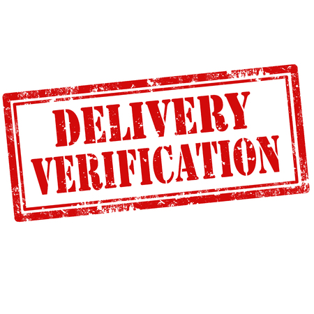 verification: Grunge rubber stamp with text Delivery Verification,vector illustration Illustration