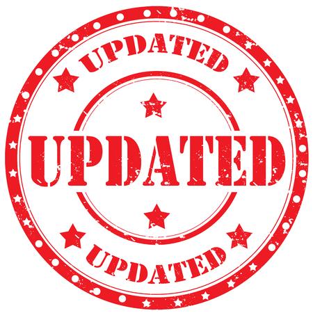 updated: Grunge sello de goma con la palabra de Actualizaci�n, ilustraci�n vectorial
