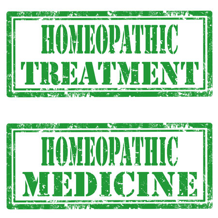homeopathic: Set of grunge rubber stamps with text Homeopathic Treatment and Homeopathic Medicine,vector illustration Illustration