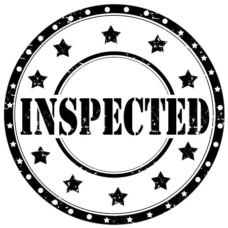 inspected: Grunge rubber stamp with text Inspected,vector illustration Illustration