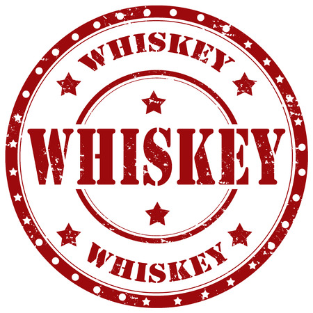 distillery: Grunge rubber stamp with word Whiskey,vector illustration Illustration