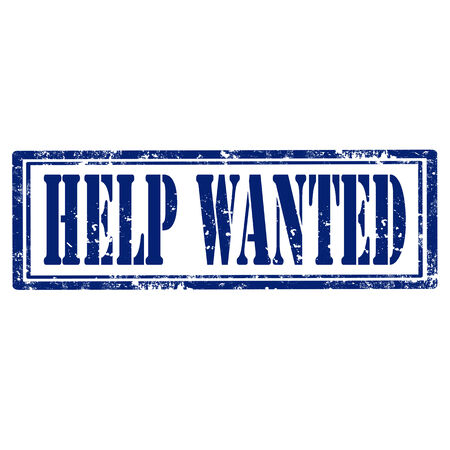 help wanted sign: Grunge rubber stamp with text Help Wanted,vector illustration