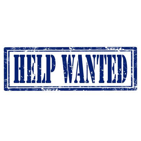 help wanted sign: Grunge sello de goma con el texto Help Wanted, ilustraci�n vectorial Vectores