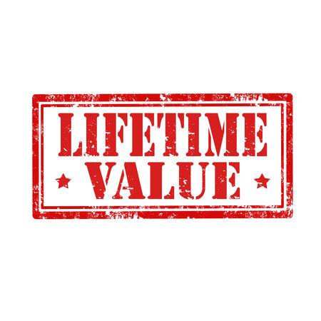 lifetime: Grunge rubber stamp with text Lifetime Value,vector illustration Illustration