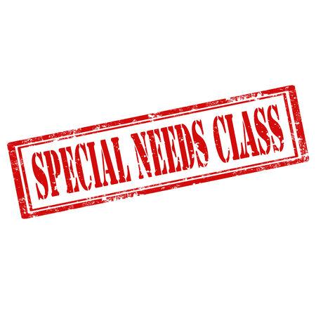 special education: Grunge sello de goma con el texto de Necesidades Especiales Clase, ilustraci�n vectorial