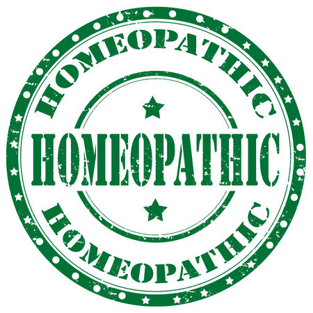 homeopathic: Grunge rubber stamp with text Homeopathic,vector illustration Illustration