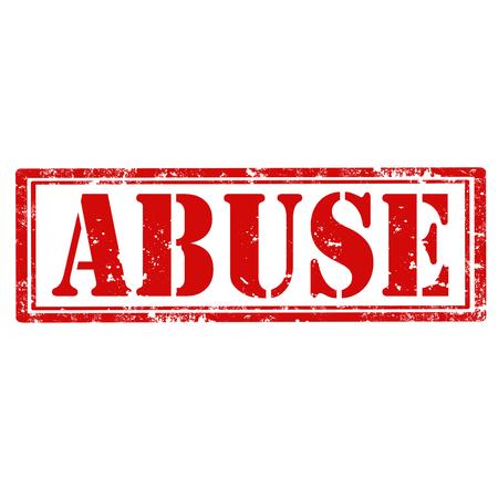 insulto: Grunge sello de goma con la palabra abuso, ilustraci�n vectorial