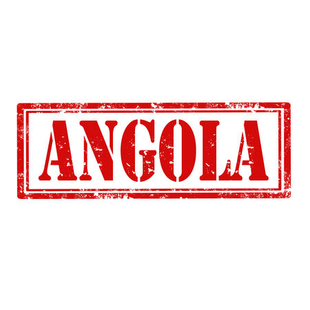 angola: Grunge rubber stamp with text Angola,vector illustration