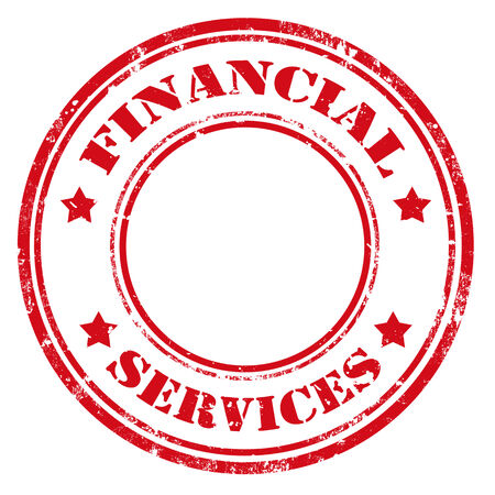 Grunge rubber stamp with text Financial Services,vector illustration